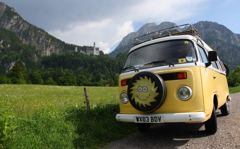 Günstig leben in Deutschland, Camper, Neuschwanstein
