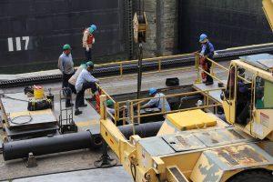 Bauarbeiter in Panama-Stadt