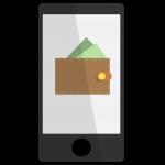 Bitcoin Wallet App auf Smartphone