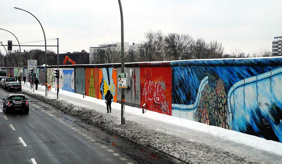 Berliner Mauer im Winter