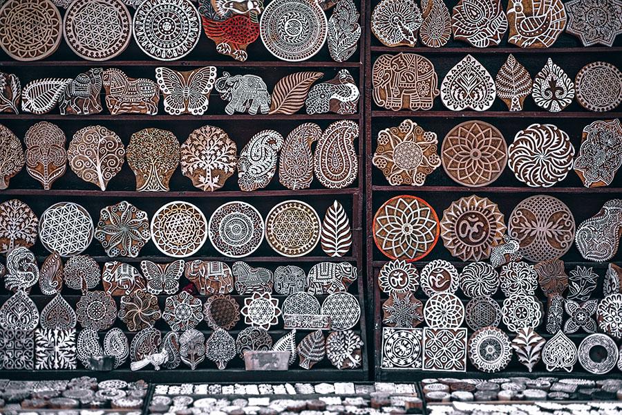Stempel, Kunstwerke aus Holz