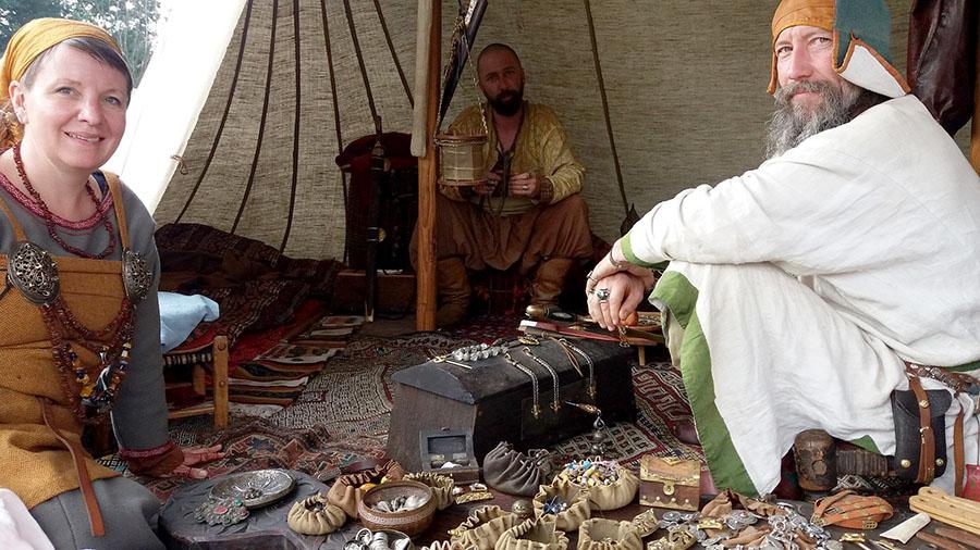 Zelt auf Mittelalter-Festival